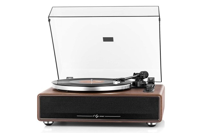 1 By One High Fidelity Belt Drive Turntable with Built-in Speakers