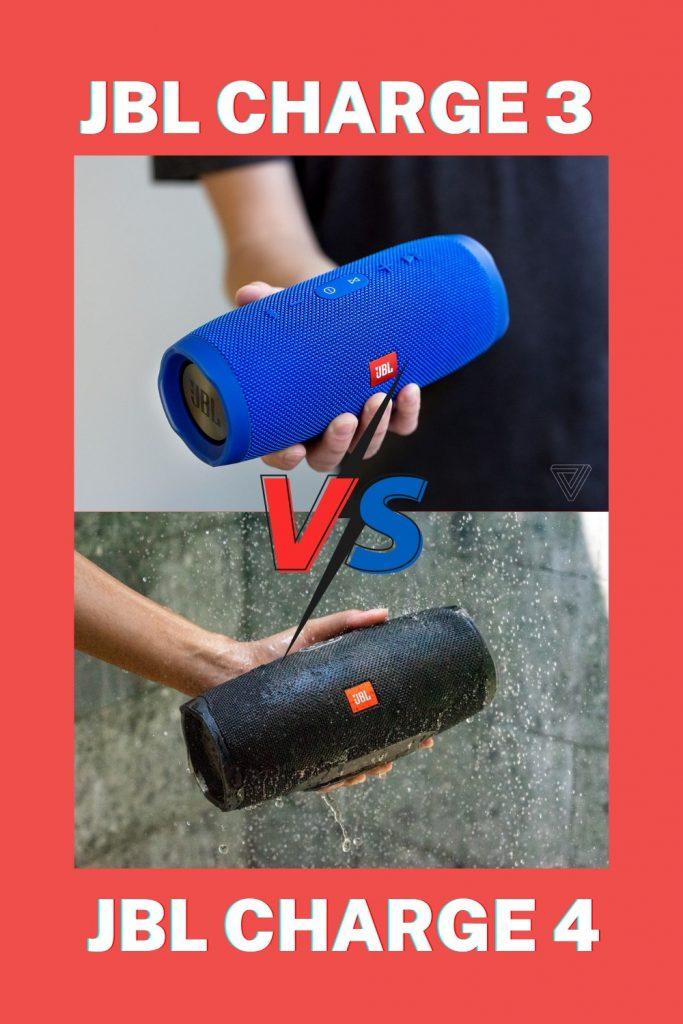 JBL Charge 3 vs. JBL Charge 4 Portable Bluetooth Speaker Pin