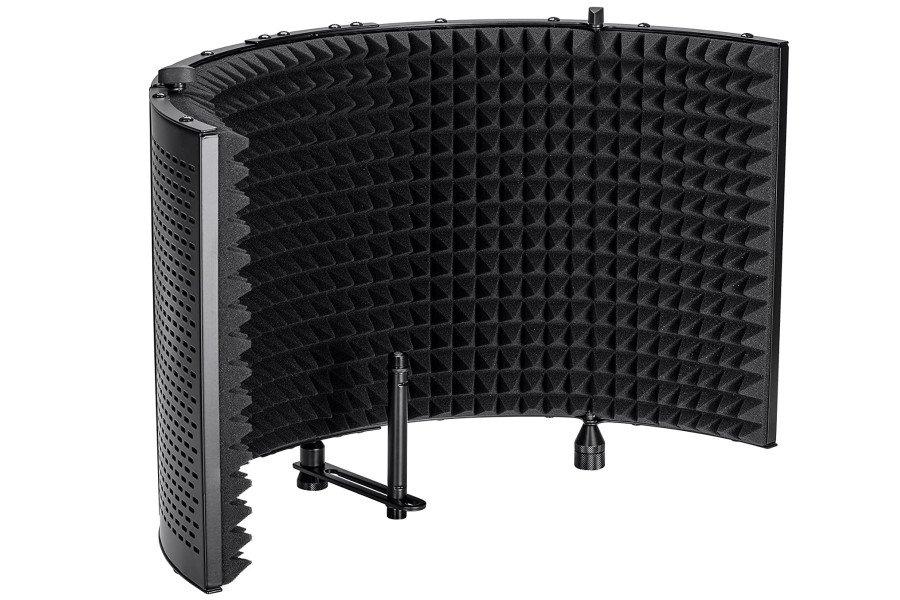 Monoprice Microphone Isolation Shield - Black
