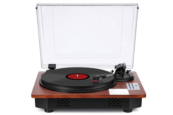 SeeYing Vinyl Record Player with Speakers