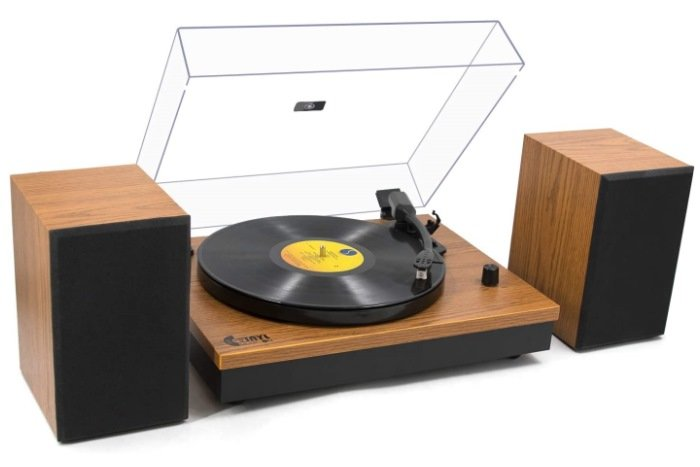 Vinyl Music On Bluetooth Record Player with Magnetic Cartridge