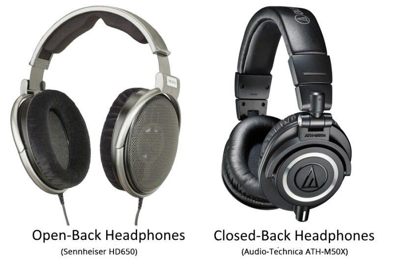 open-back headphones vs closed-back headphones