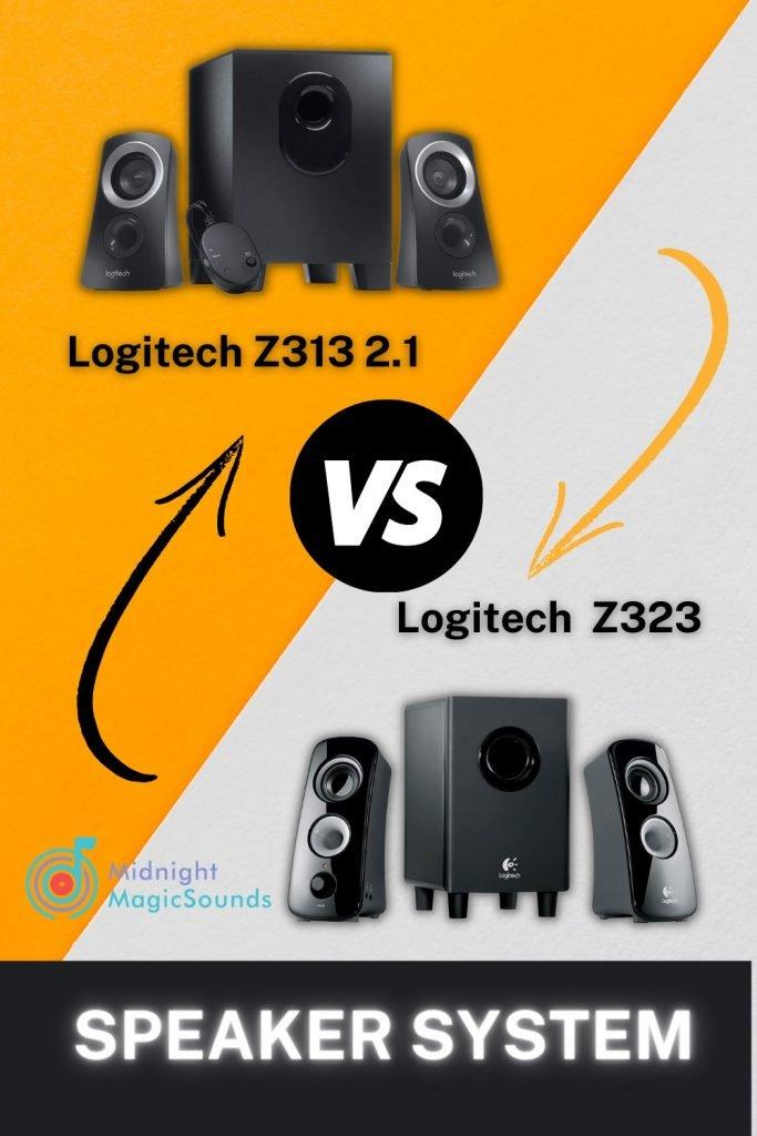 Logitech Z323 vs. Logitech Z313 Pin