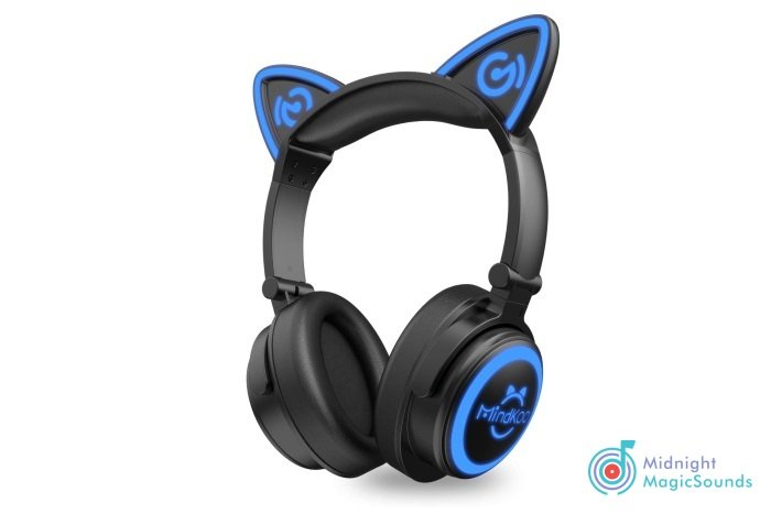 MindKoo Cat Ear Bluetooth Headphones with Microphone