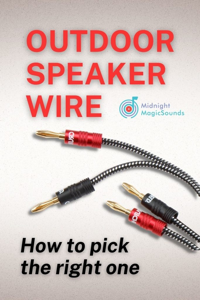 Outdoor Speaker Wire - How to Pick the Right One Pin